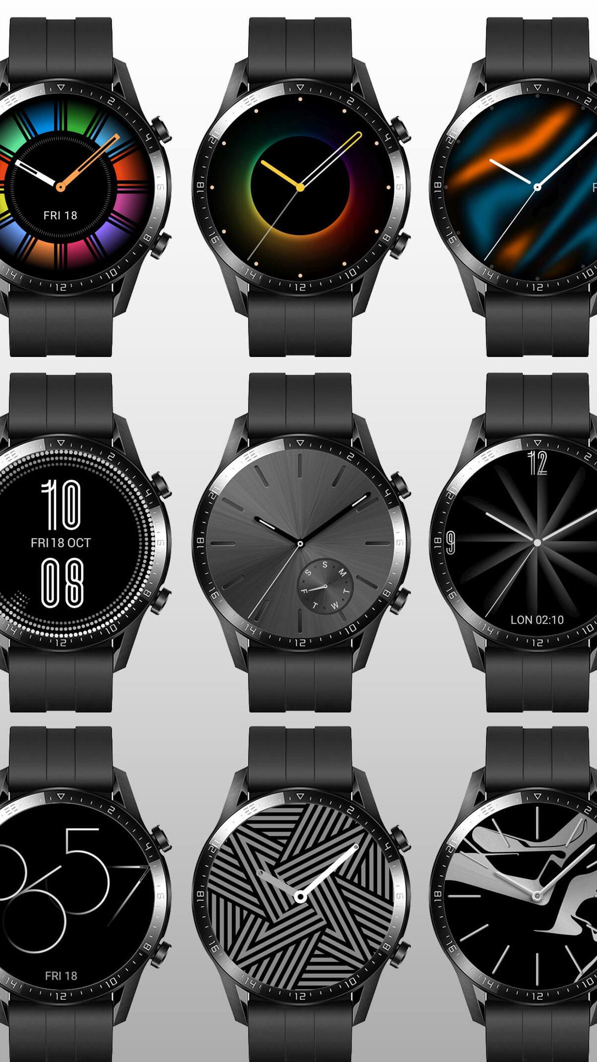 Así se verán las esferas del Huawei Watch GT 2 con HarmonyOS 4