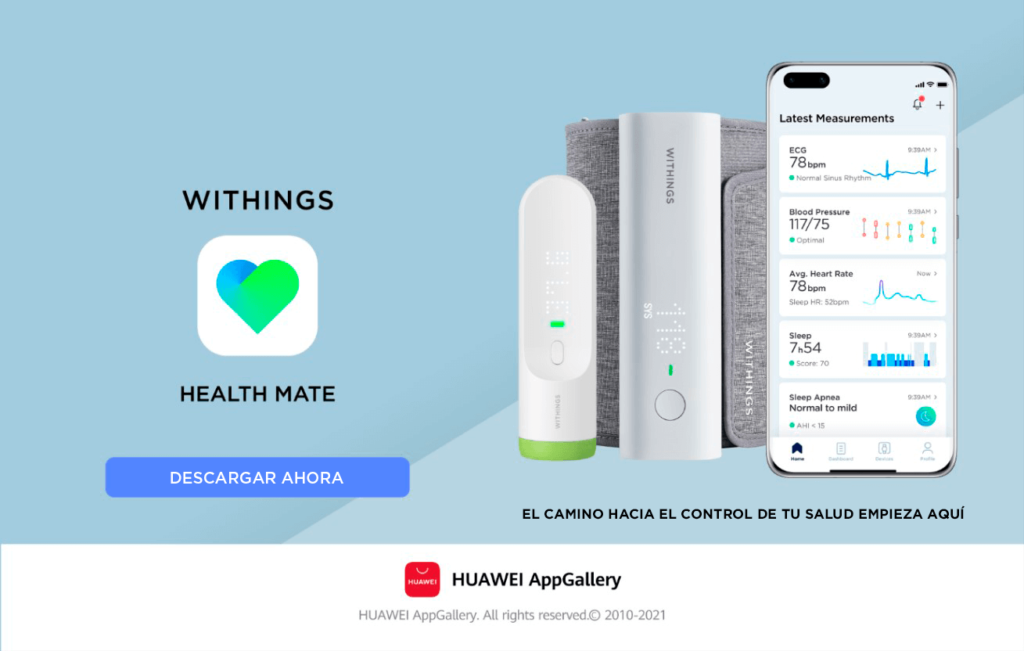 Health Mate, la app oficial de Withings ya está disponible en AppGallery
